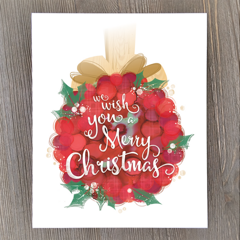 we wish you a merry christmas cards print and tags - Christmas Card Print Out