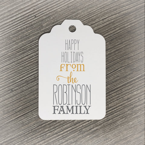 Personalized Holiday Gift Tag