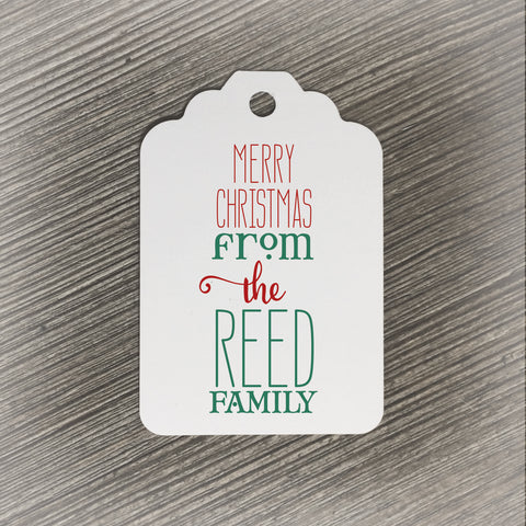 Personalized Family Christmas Gift Tag