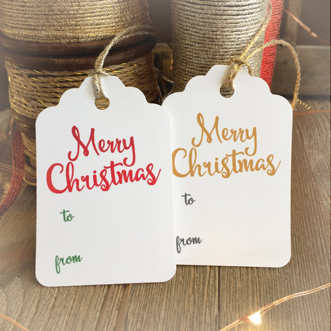 Merry Christmas Gift Tags