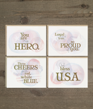 You are My Hero Patriotic Card Set