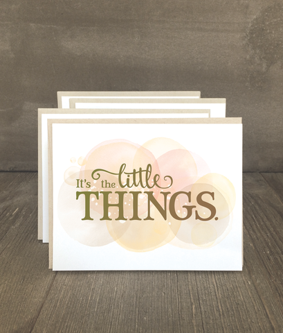 It's the Little Things Card Set