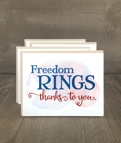 Freedom Rings Patriotic Card Set
