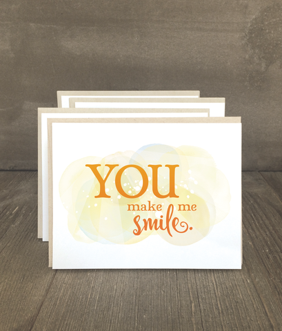You Make Me Smile Card Set