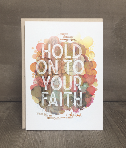 Hold on to Your Faith Card