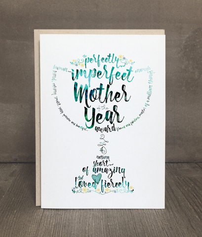 Mother of the Year Greeting Card and Print