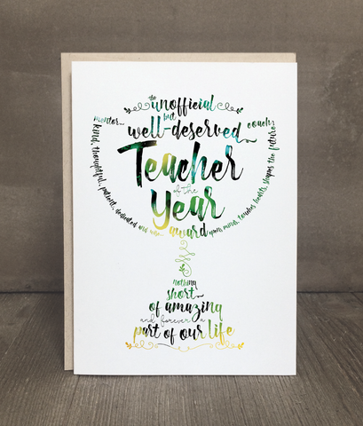 Teacher of the Year Greeting Card