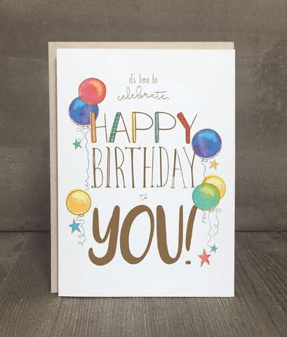 Birthday Card: Time to Celebrate