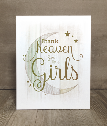 Thank Heaven for Little Ones Print