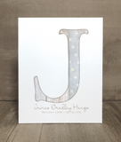 Sample Baby Initial Art Custom Print