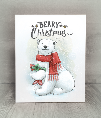 Beary Christmas Cards, Print and Tags