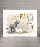 Love, Peace and Joy Christmas Cards and Print