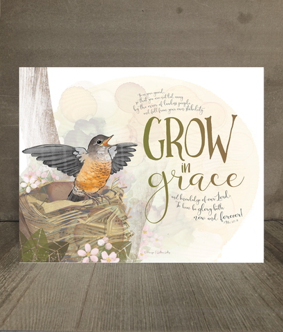 Grow in Grace Card and Print