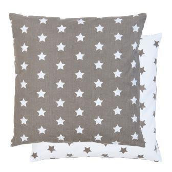 All Over Star Cushion - Taupe