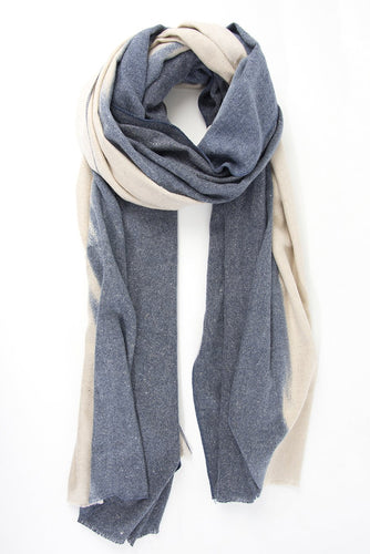 Blue & Cream Sparkle Scarf
