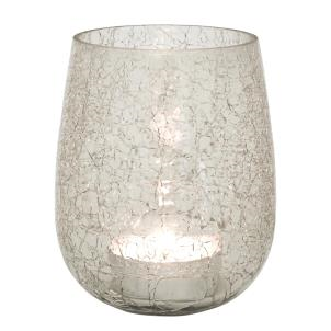 Crackle Glass Candleholder