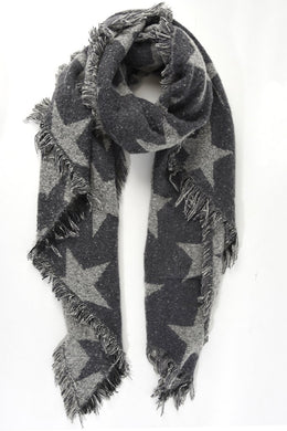 Asymmetric Two-Tone Star Scarf