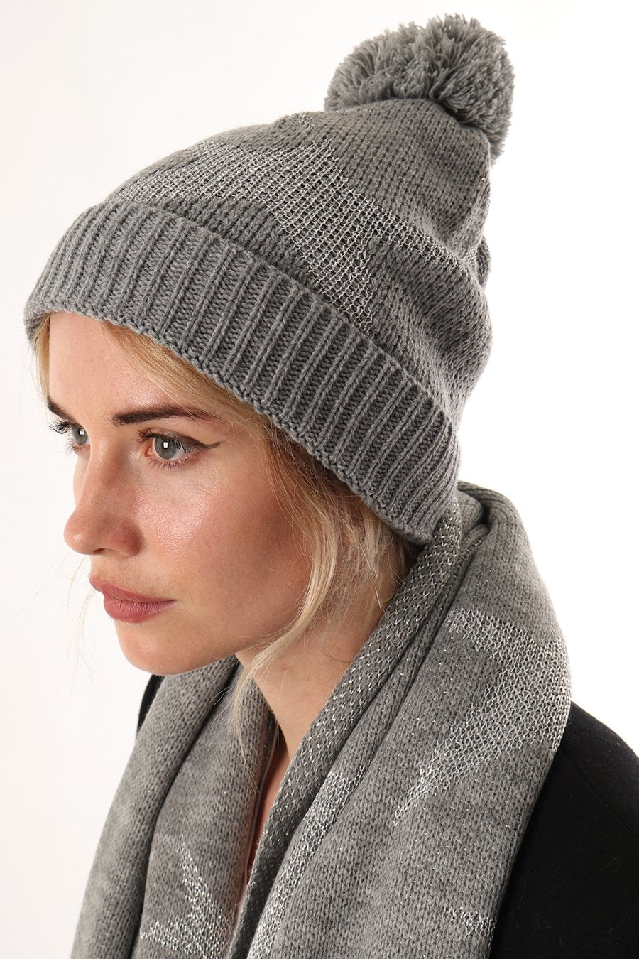 Light Grey Star Hat