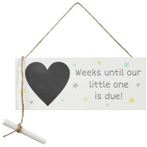 New Baby Countdown Sign