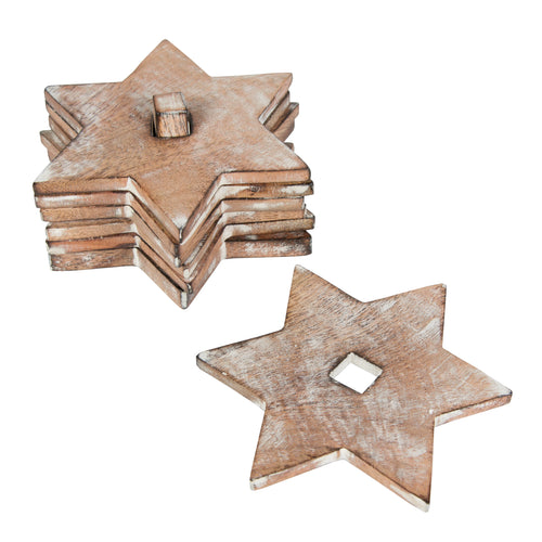 Wooden Star Coasters