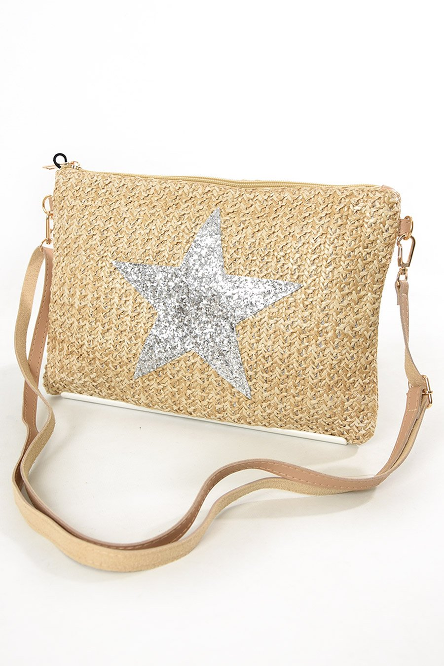 Cream & Silver Star Bag