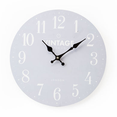 Small Grey Wall Clock
