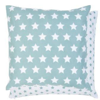 All Over Star Cushion - Duck Egg