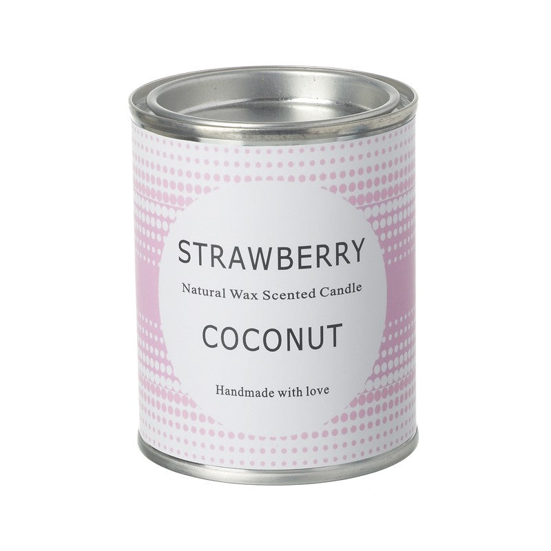 Strawberry & Coconut Scented Candle