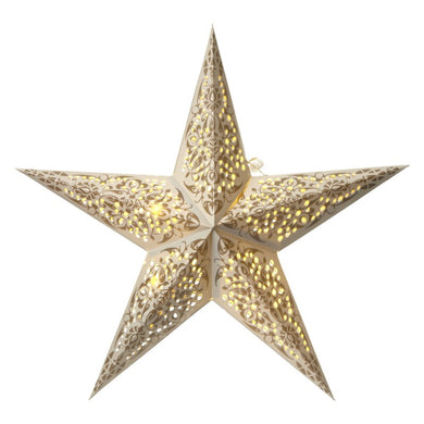 Grey LED Star Decoration