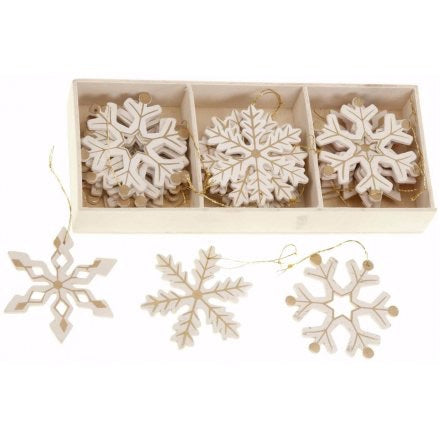 Boxed Snowflake Decorations