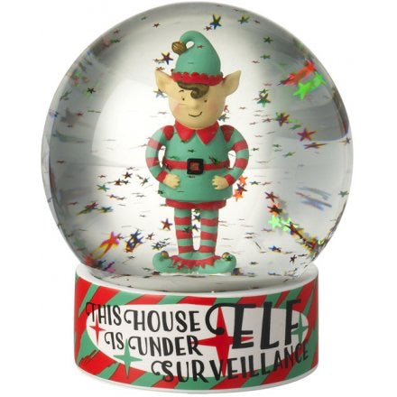 Elf Surveillance Snow Globe