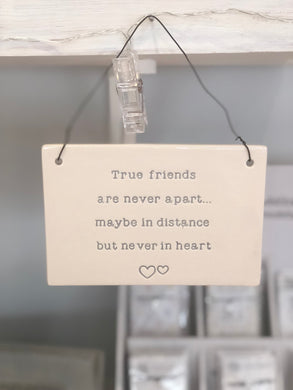 'True Friends' Hanging Sign
