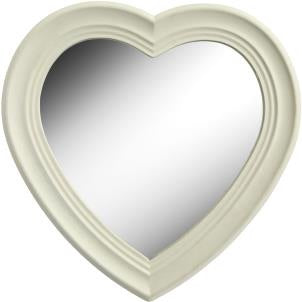 Cream Heart Mirror