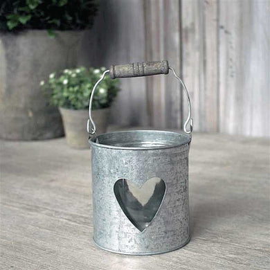 Small Tin and Glass Candle Holder