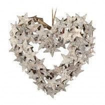 Heart Wreath with Bark Stars