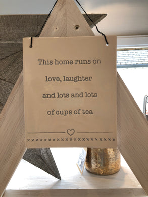 'Tea' Ceramic Sign