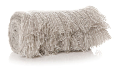 Snuggly Light Grey/Beige Throw