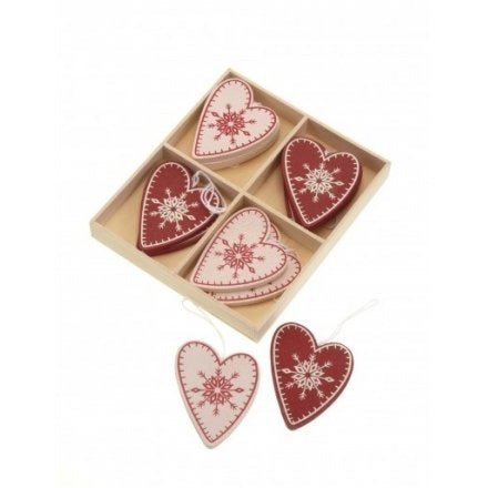 Boxed Heart Decorations