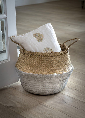 Silver Seagrass Basket