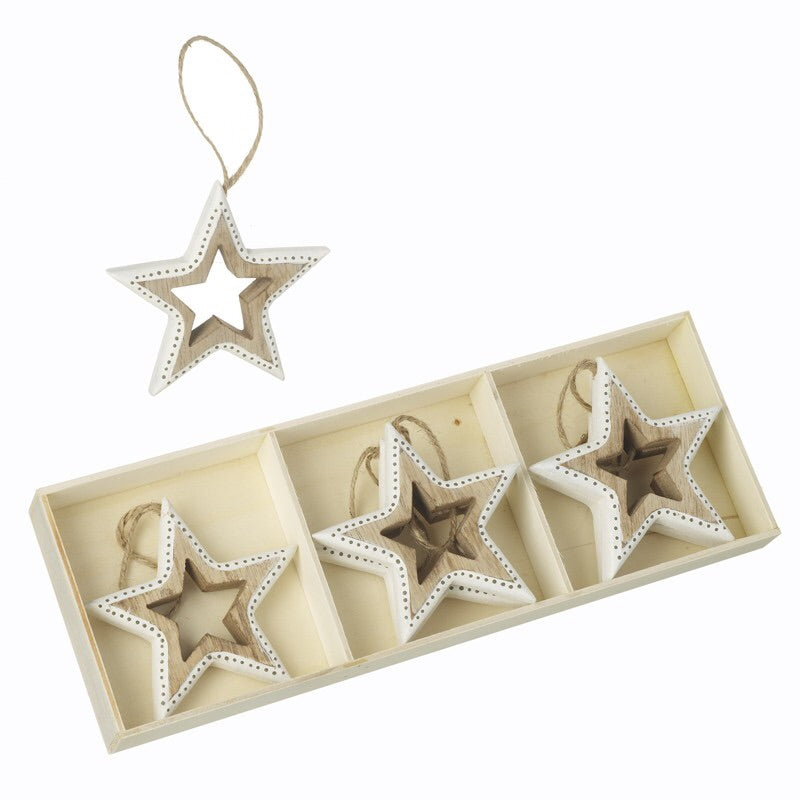 Individual Wooden Star Decoration