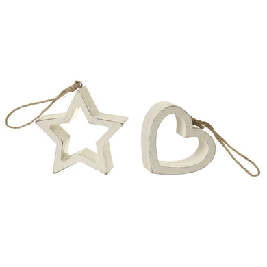 Chunky Hanging Star Decoration