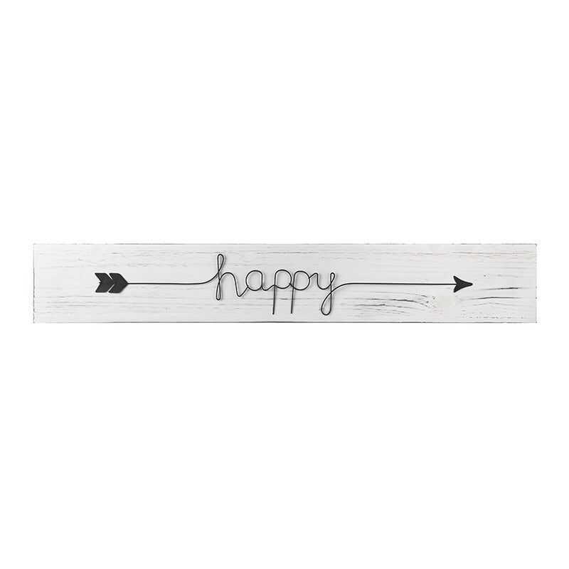 Happy Wooden Sign