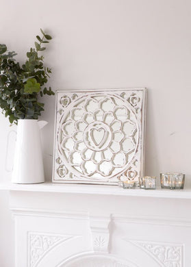 White Wood Mirror Panel