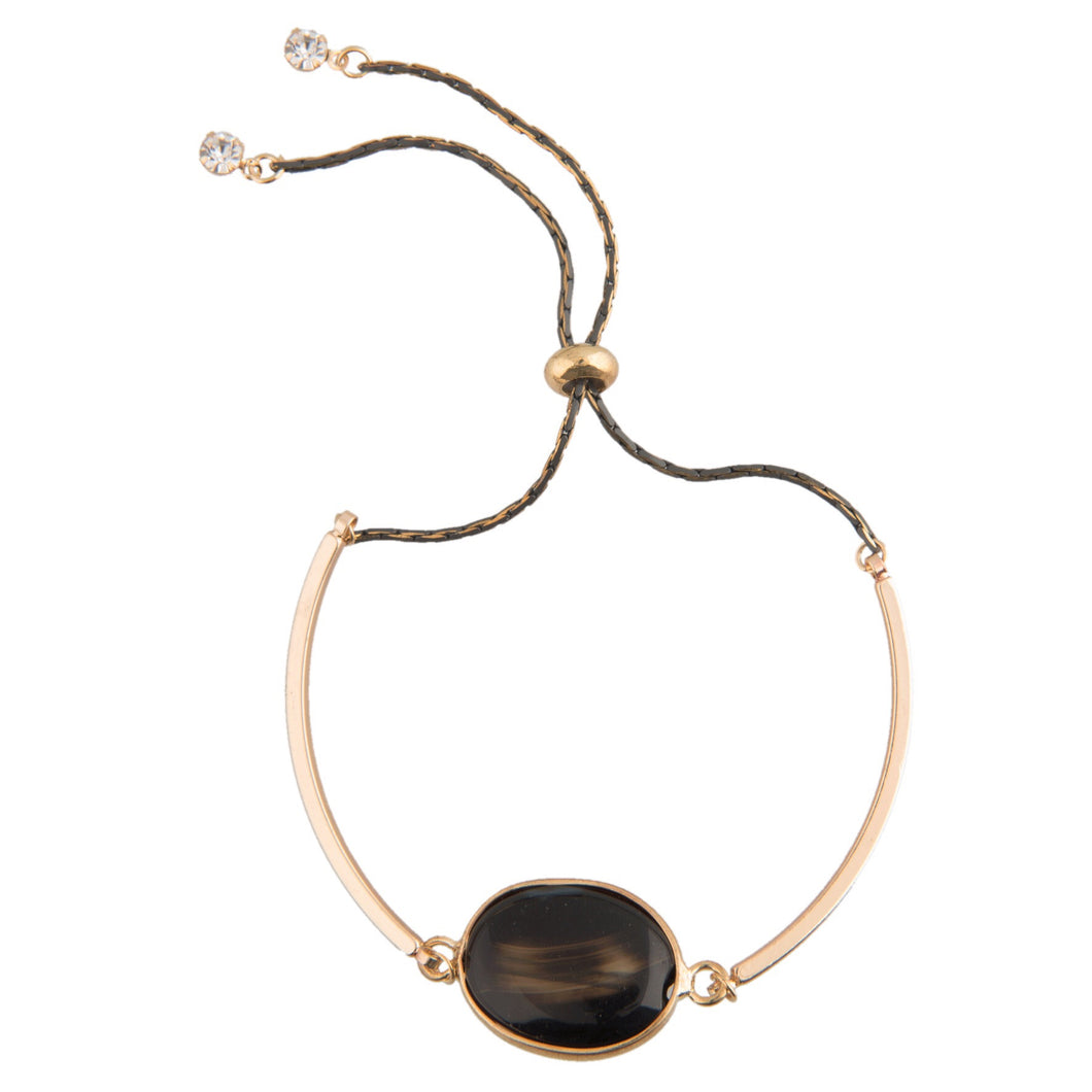 Noir Stone Bracelet (gold colour)