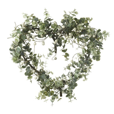 Heart Mistletoe Wreath
