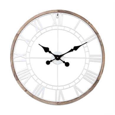 Rustic White Skeleton Clock