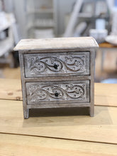 Carved Wood Mini Drawers