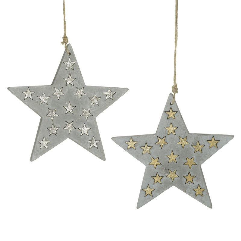 Cement Hanging Star