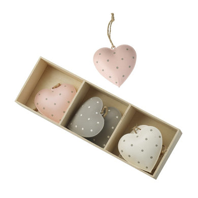 Set of Metal Hanging Hearts