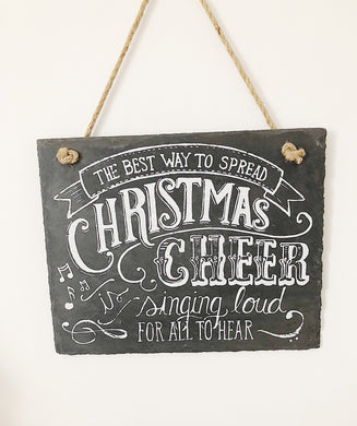 Christmas Cheer Slate Sign